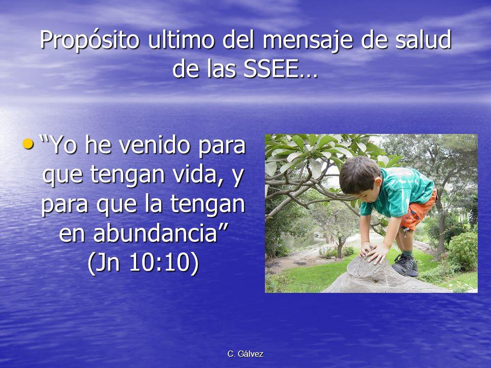 C. Gálvez La Antropología Bíblica… La Iglesia Adventista, por su aceptación plena de la antropología bíblica, es apta para predicar un mensaje de salu