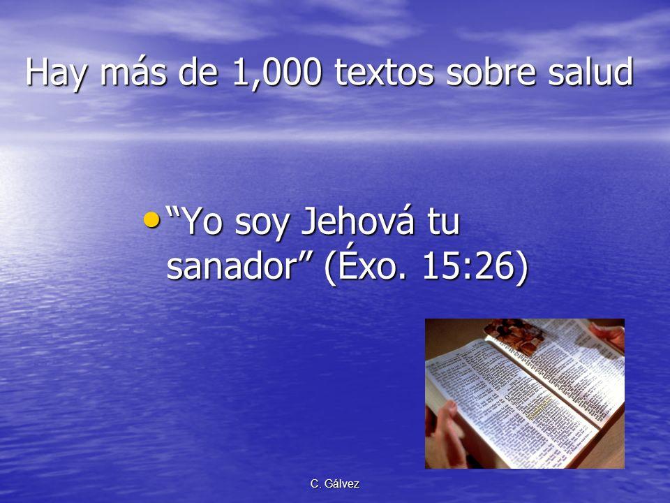 C. Gálvez PROPÓSITO de esta presentación Con respecto a nuestra salud Dios desea que vivamos y promovamos una mejor calidad de vida a través de una ac