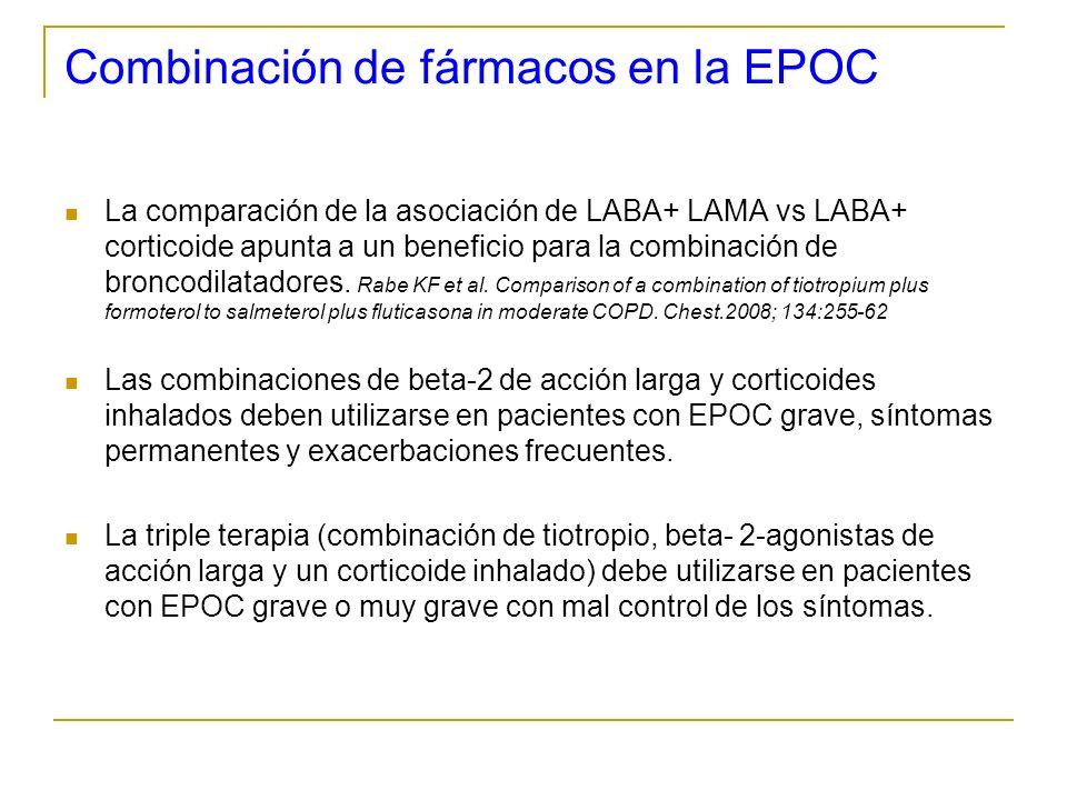 Combinación de fármacos en la EPOC La comparación de la asociación de LABA+ LAMA vs LABA+ corticoide apunta a un beneficio para la combinación de bron