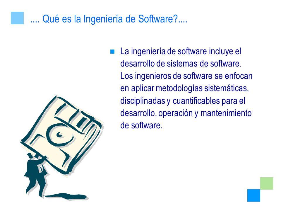 La ingeniería de software incluye el desarrollo de sistemas de software. Los ingenieros de software se enfocan en aplicar metodologías sistemáticas, d