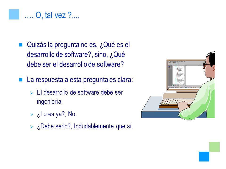 Quizás la pregunta no es, ¿Qué es el desarrollo de software?, sino, ¿Qué debe ser el desarrollo de software? La respuesta a esta pregunta es clara: El