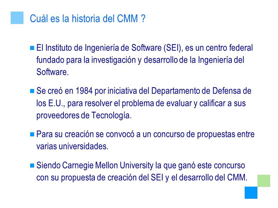 El Instituto de Ingeniería de Software (SEI), es un centro federal fundado para la investigación y desarrollo de la Ingeniería del Software. Se creó e