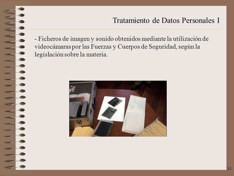 Tratamiento de Datos Personales I 11 - Ficheros de imagen y sonido obtenidos mediante la utilización de videocámaras por las Fuerzas y Cuerpos de Segu