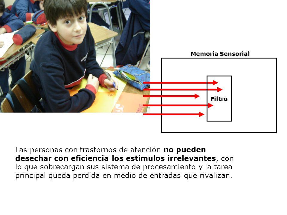 Procesos Neuropsicológicos de Aprendizaje y Modelos Educativos U2 / 13 Las personas con trastornos de atención no pueden desechar con eficiencia los e