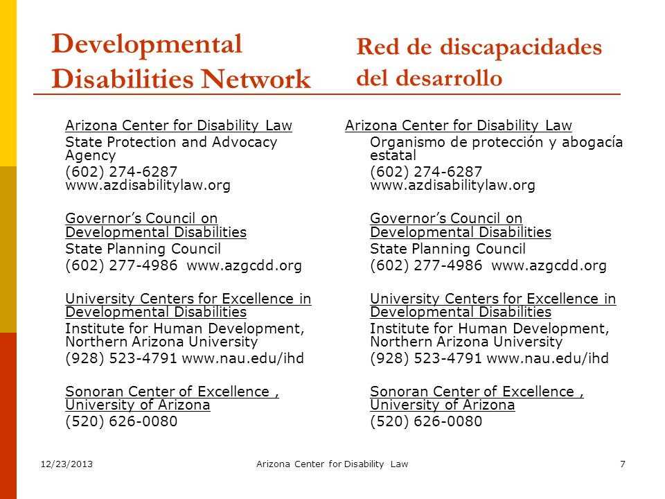 12/23/2013Arizona Center for Disability Law38 What are Related Services.