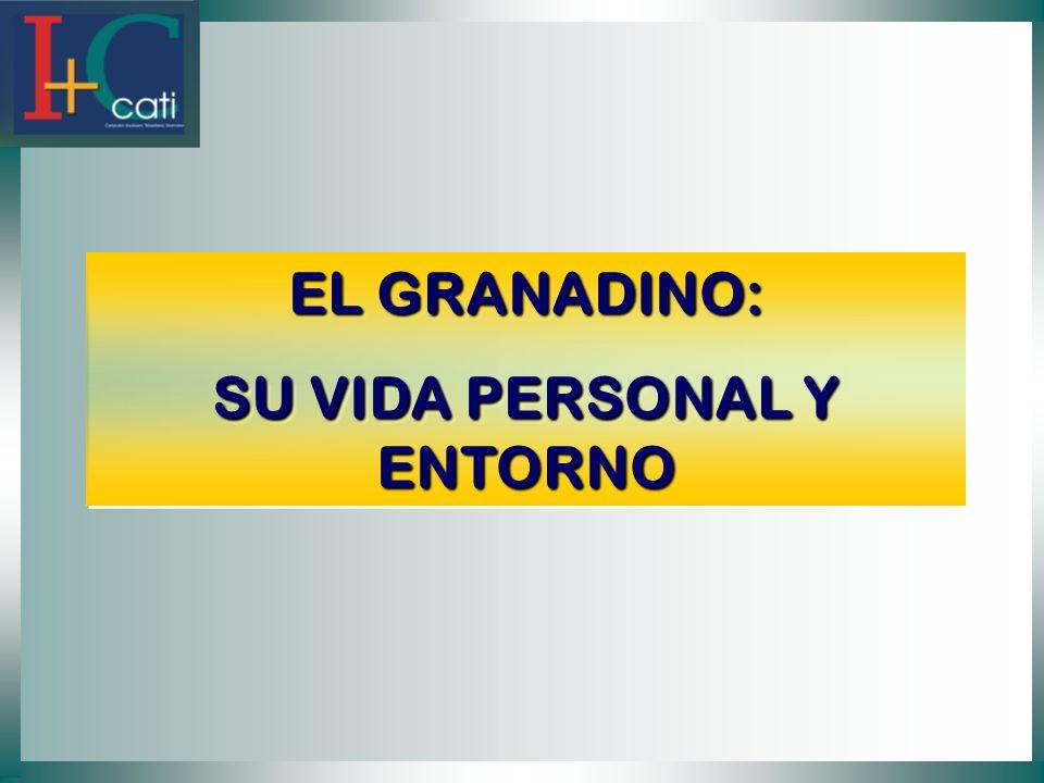 EL GRANADINO: SU VIDA PERSONAL Y ENTORNO EL GRANADINO: SU VIDA PERSONAL Y ENTORNO