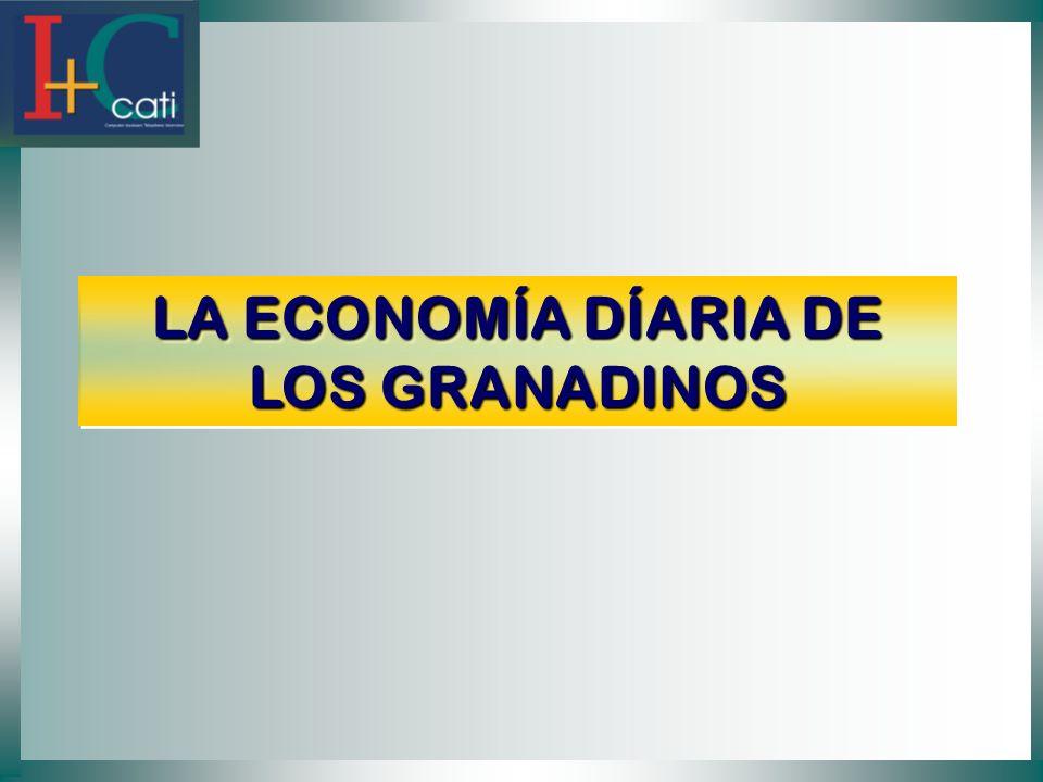LA ECONOMÍA DÍARIA DE LOS GRANADINOS