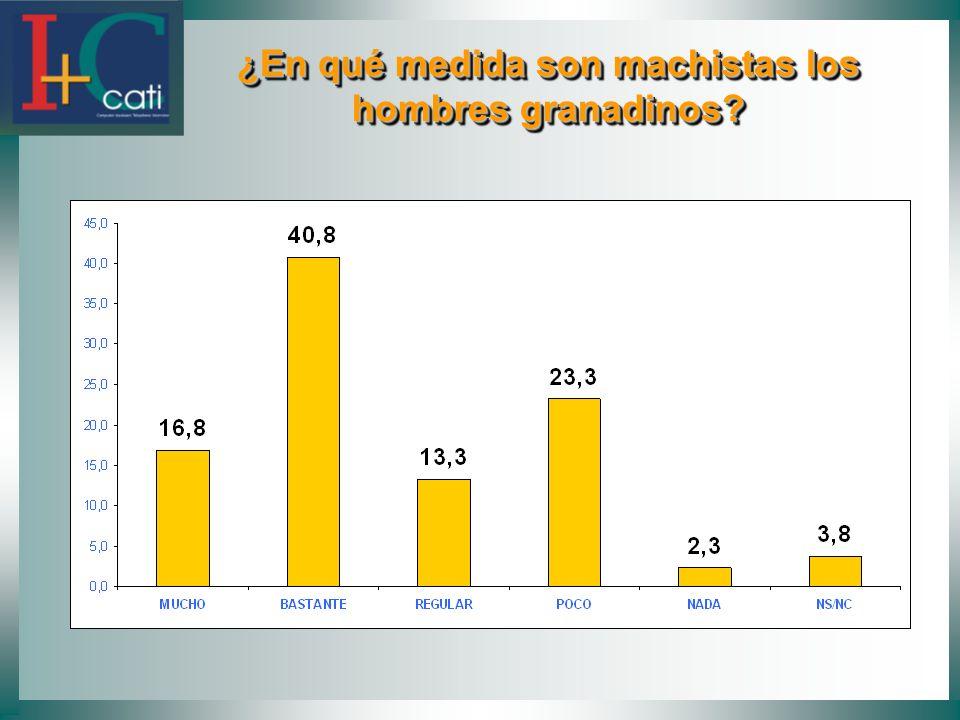 ¿En qué medida son machistas los hombres granadinos? ¿En qué medida son machistas los hombres granadinos?