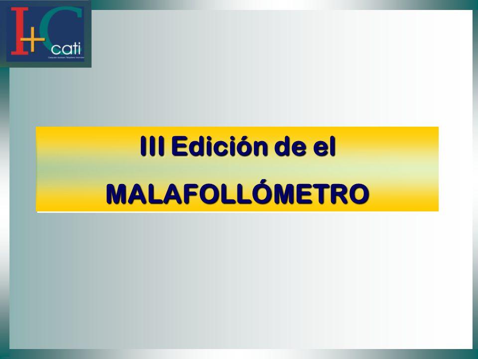 III Edición de el MALAFOLLÓMETRO MALAFOLLÓMETRO