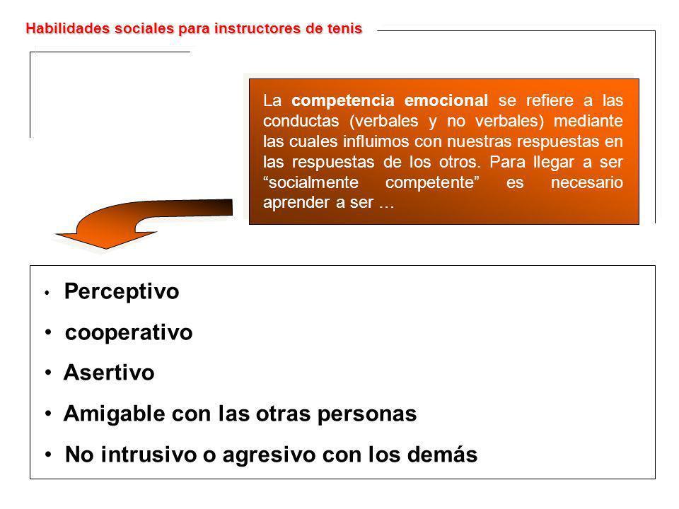 La competencia emocional se refiere a las conductas (verbales y no verbales) mediante las cuales influimos con nuestras respuestas en las respuestas d