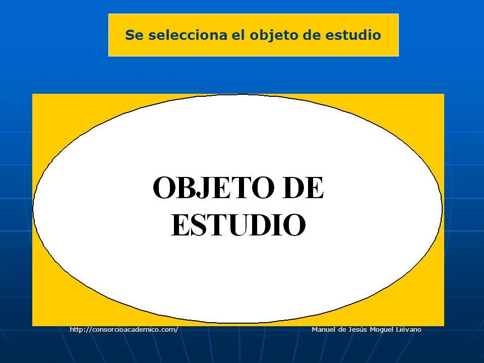 Se selecciona el objeto de estudio http://consorcioacademico.com/ Manuel de Jesús Moguel Liévano