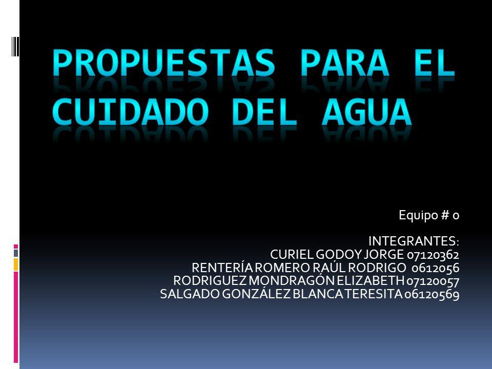 Equipo # 0 INTEGRANTES: CURIEL GODOY JORGE 07120362 RENTERÍA ROMERO RAÚL RODRIGO 0612056 RODRIGUEZ MONDRAGÓN ELIZABETH 07120057 SALGADO GONZÁLEZ BLANC
