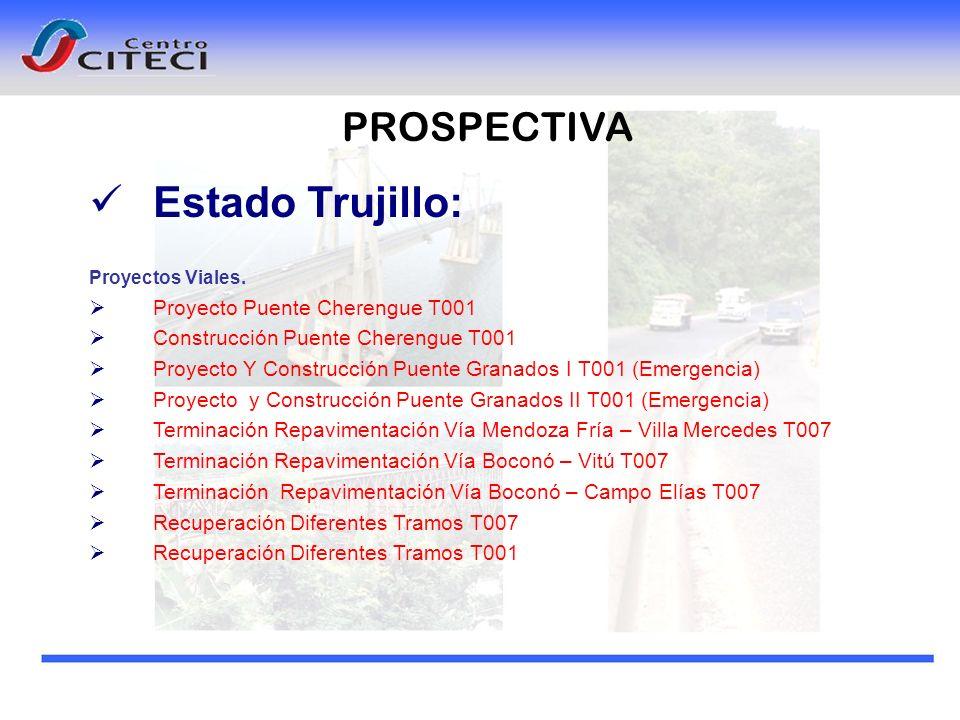 PROSPECTIVA Estado Trujillo: Proyectos Viales. Proyecto Puente Cherengue T001 Construcción Puente Cherengue T001 Proyecto Y Construcción Puente Granad
