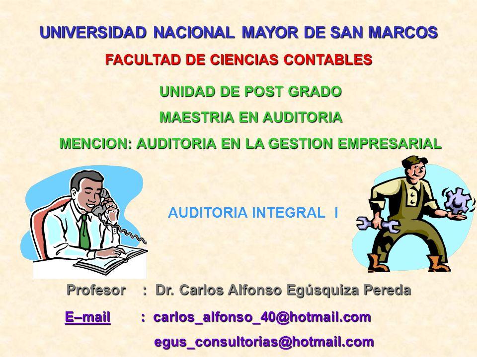 UNIVERSIDAD NACIONAL MAYOR DE SAN MARCOS Profesor : D D D Dr.
