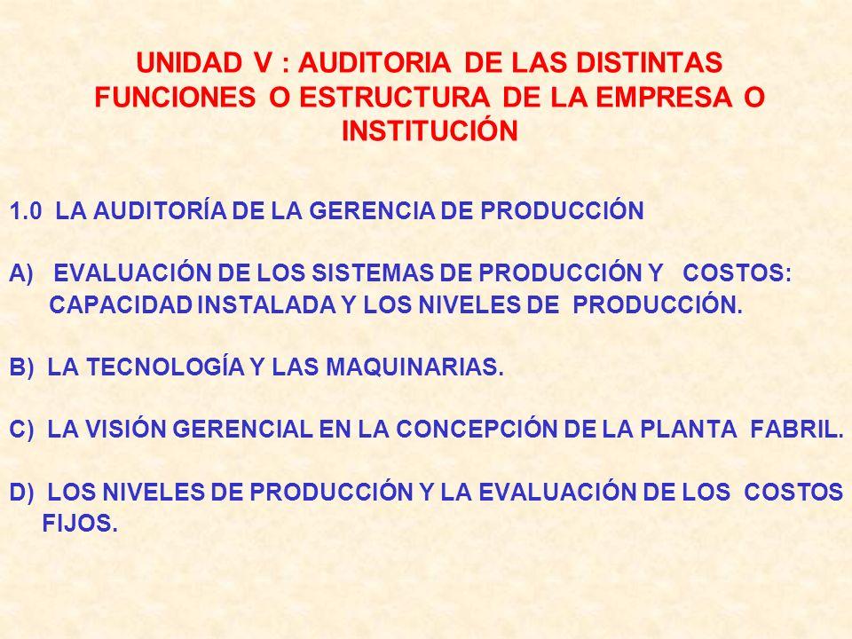 UNIDAD IV PROCESO, TECNICAS Y PROCEDIMIENTOS PARA LA EJECUCION DE LA AUDITORIA 1. PLANEAMIENTO Y LA PROGRAMACIÓN: ESTUDIO DE LOS DISTINTOS SISTEMAS IM