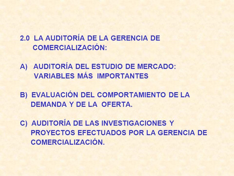 UNIDAD V : AUDITORIA DE LAS DISTINTAS FUNCIONES O ESTRUCTURA DE LA EMPRESA O INSTITUCIÓN 1.0 LA AUDITORÍA DE LA GERENCIA DE PRODUCCIÓN A) EVALUACIÓN D