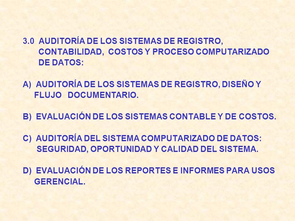 2.0 LA AUDITORÍA DE LA GERENCIA DE COMERCIALIZACIÓN: A) AUDITORÍA DEL ESTUDIO DE MERCADO: VARIABLES MÁS IMPORTANTES B) EVALUACIÓN DEL COMPORTAMIENTO D