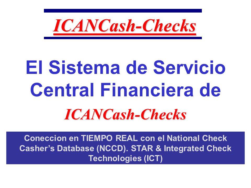 ICANCash-Checks ¡Compruebe por favor con referir el agente.