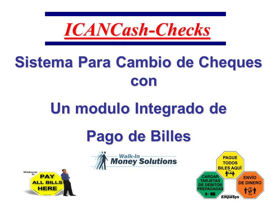 Opcion de Verificar el estado de la cuenta Con ICANCash-Checks Ud.