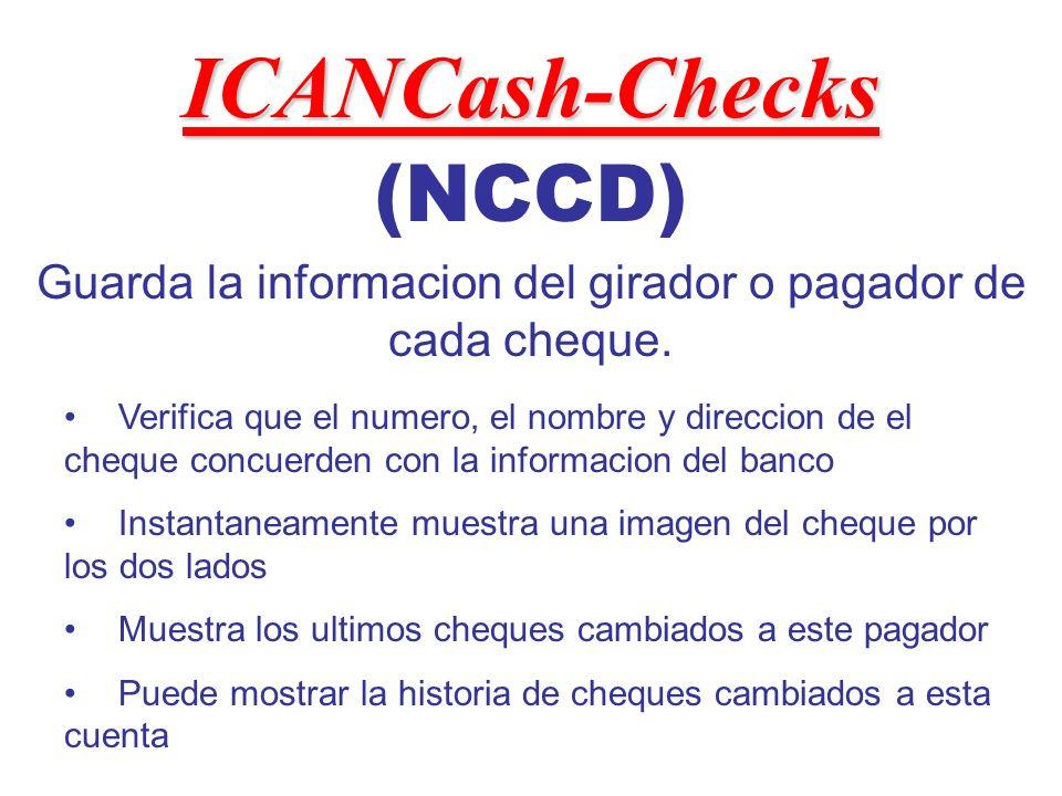 (NCCD) Guarda la informacion del girador o pagador de cada cheque.