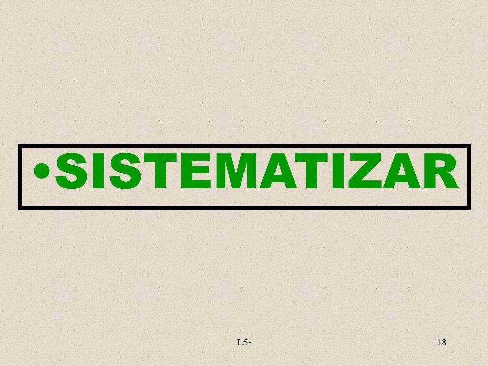 L5-18 SISTEMATIZAR