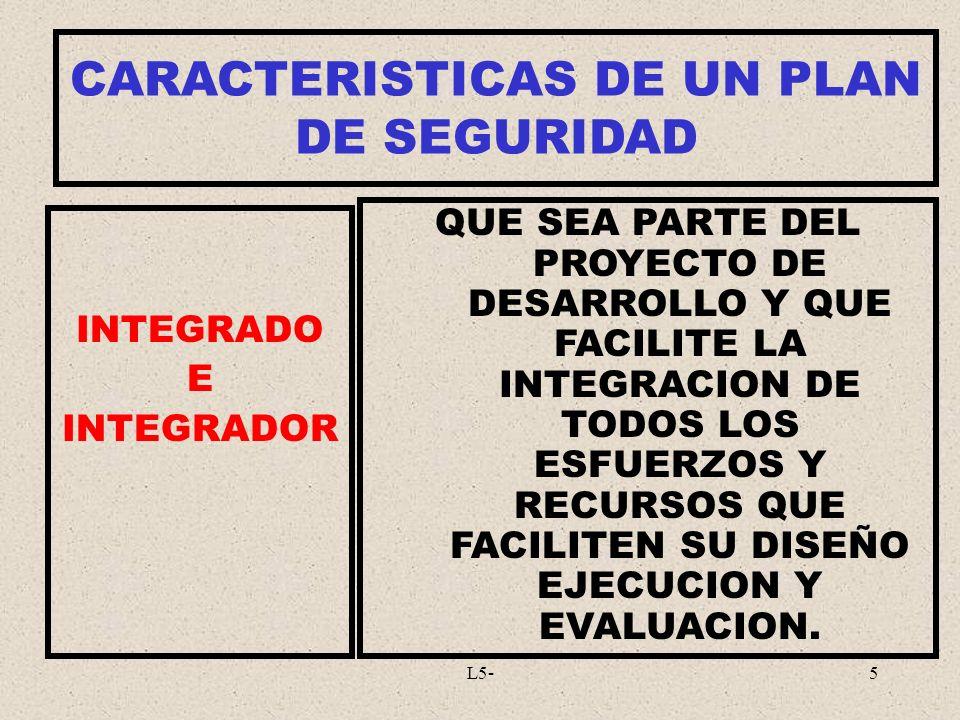 L5-5 INTEGRADO E INTEGRADOR QUE SEA PARTE DEL PROYECTO DE DESARROLLO Y QUE FACILITE LA INTEGRACION DE TODOS LOS ESFUERZOS Y RECURSOS QUE FACILITEN SU