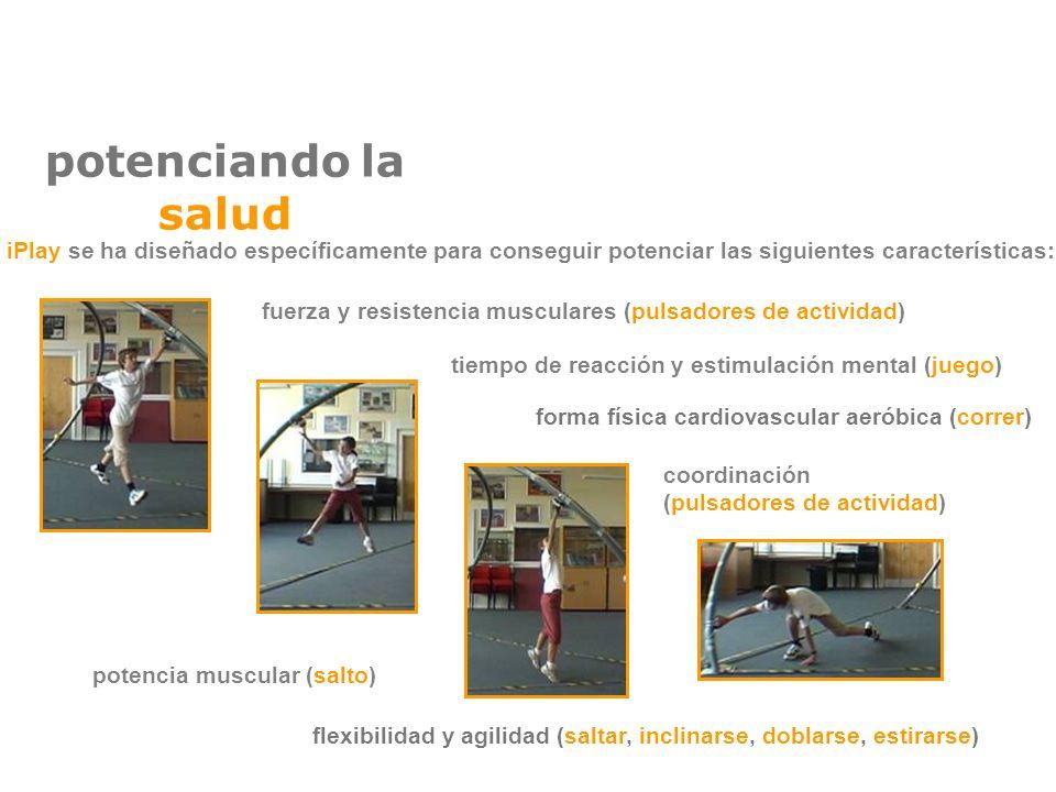 potenciando la salud tiempo de reacción y estimulación mental (juego) forma física cardiovascular aeróbica (correr) fuerza y resistencia musculares (p