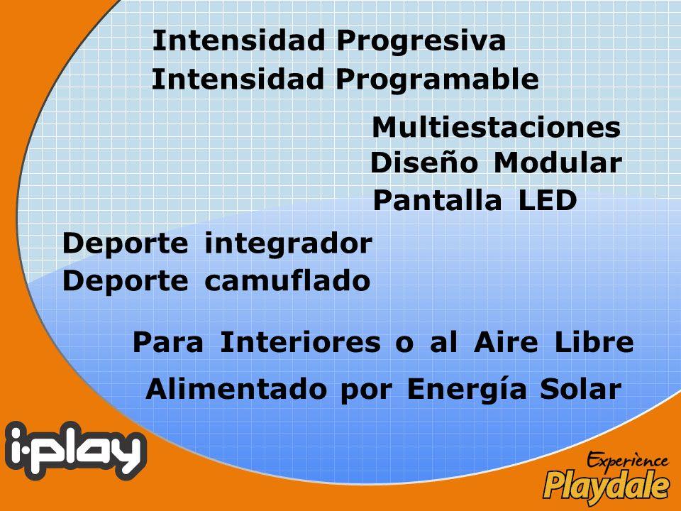 Deporte camuflado Deporte integrador Diseño Modular Pantalla LED Multiestaciones Para Interiores o al Aire Libre Alimentado por Energía Solar Intensid