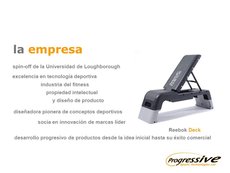 la empresa spin-off de la Universidad de Loughborough socia en innovación de marcas líder diseñadora pionera de conceptos deportivos desarrollo progre