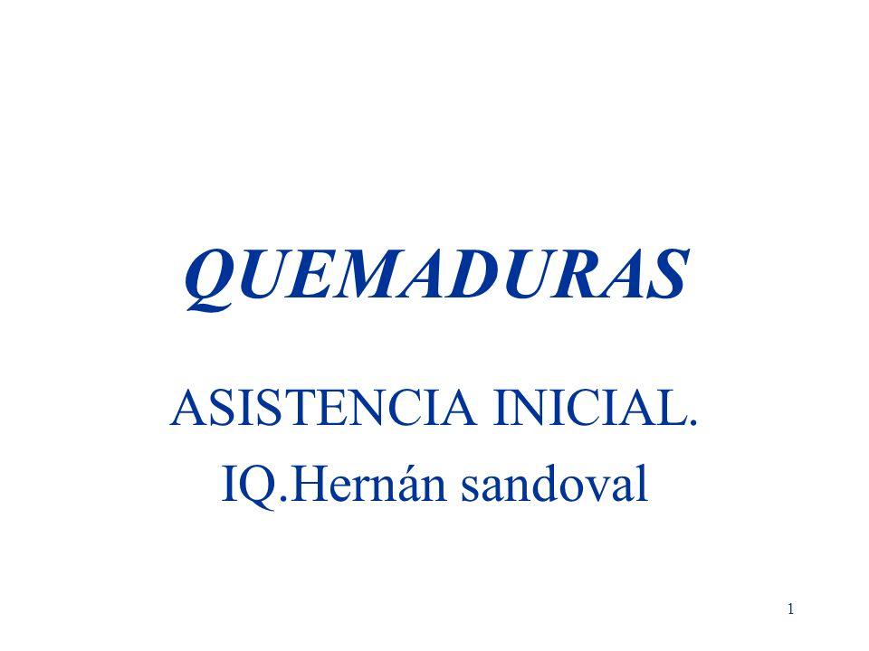 1 QUEMADURAS ASISTENCIA INICIAL. IQ.Hernán sandoval