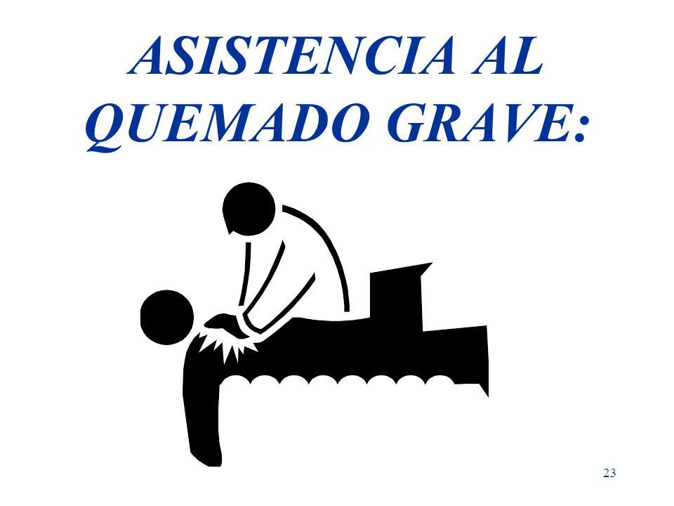 23 ASISTENCIA AL QUEMADO GRAVE: