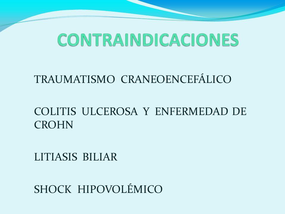 TRAUMATISMO CRANEOENCEFÁLICO COLITIS ULCEROSA Y ENFERMEDAD DE CROHN LITIASIS BILIAR SHOCK HIPOVOLÉMICO