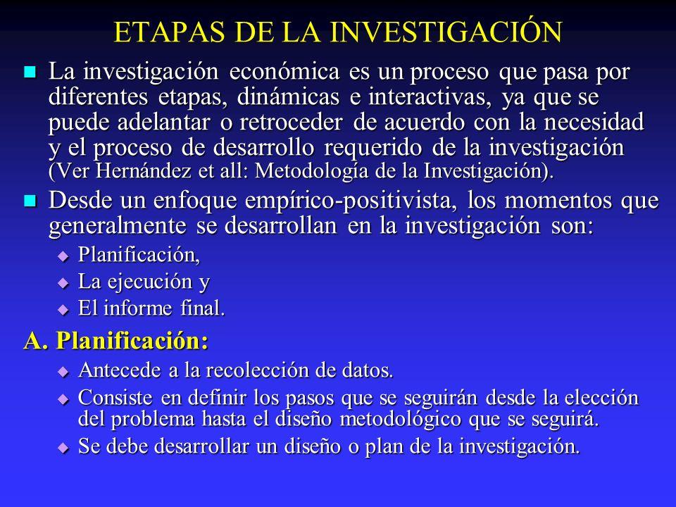 ETAPAS DE LA INVESTIGACIÓN Se divide en tres fases principales: Se divide en tres fases principales: I.