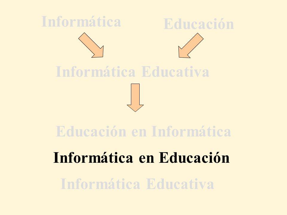 Informática en Educación Educación en Informática Informática Educativa Informática Educación Informática Educativa