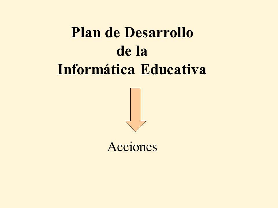 Plan de Desarrollo de la Informática Educativa Acciones