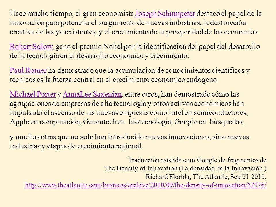 Hace mucho tiempo, el gran economista Joseph Schumpeter destacó el papel de la innovación para potenciar el surgimiento de nuevas industrias, la destr