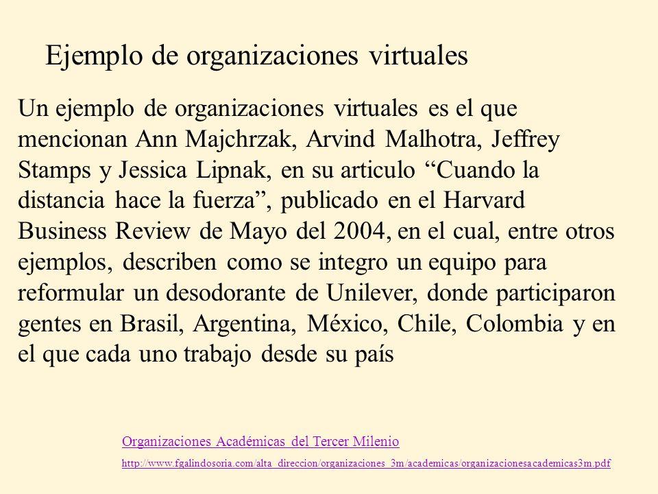 Organizaciones Académicas del Tercer Milenio http://www.fgalindosoria.com/alta_direccion/organizaciones_3m/academicas/organizacionesacademicas3m.pdf U