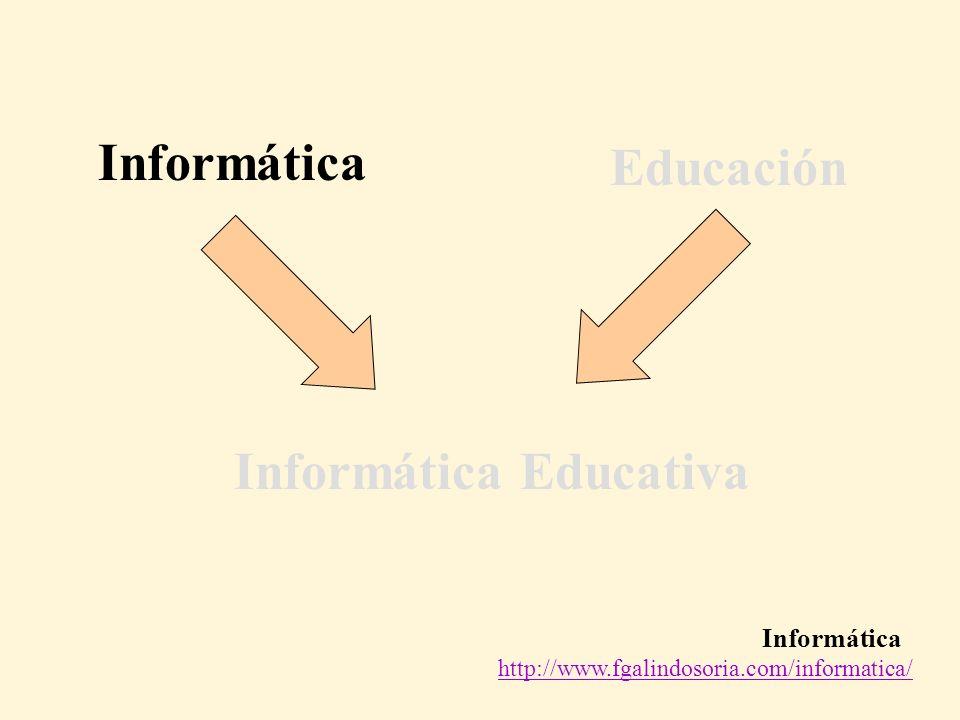 Informática http://www.fgalindosoria.com/informatica/ Informática Educación Informática Educativa