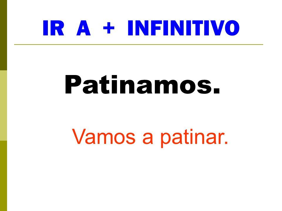 IR A + INFINITIVO Tiene... Va a tener...