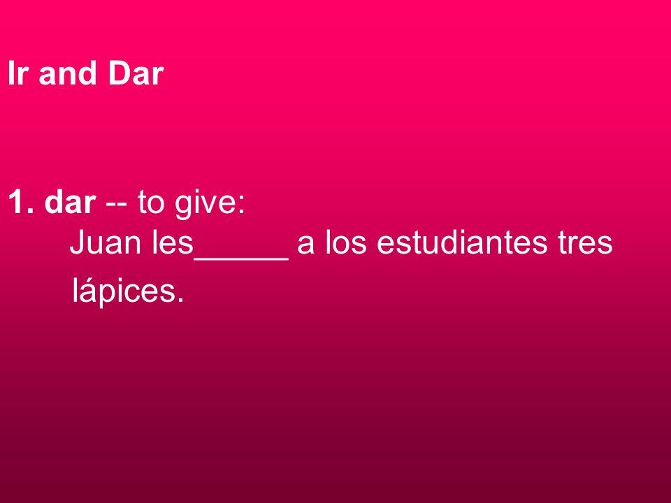 2. ir -- to go: ¿Adónde_____ Juan y María?
