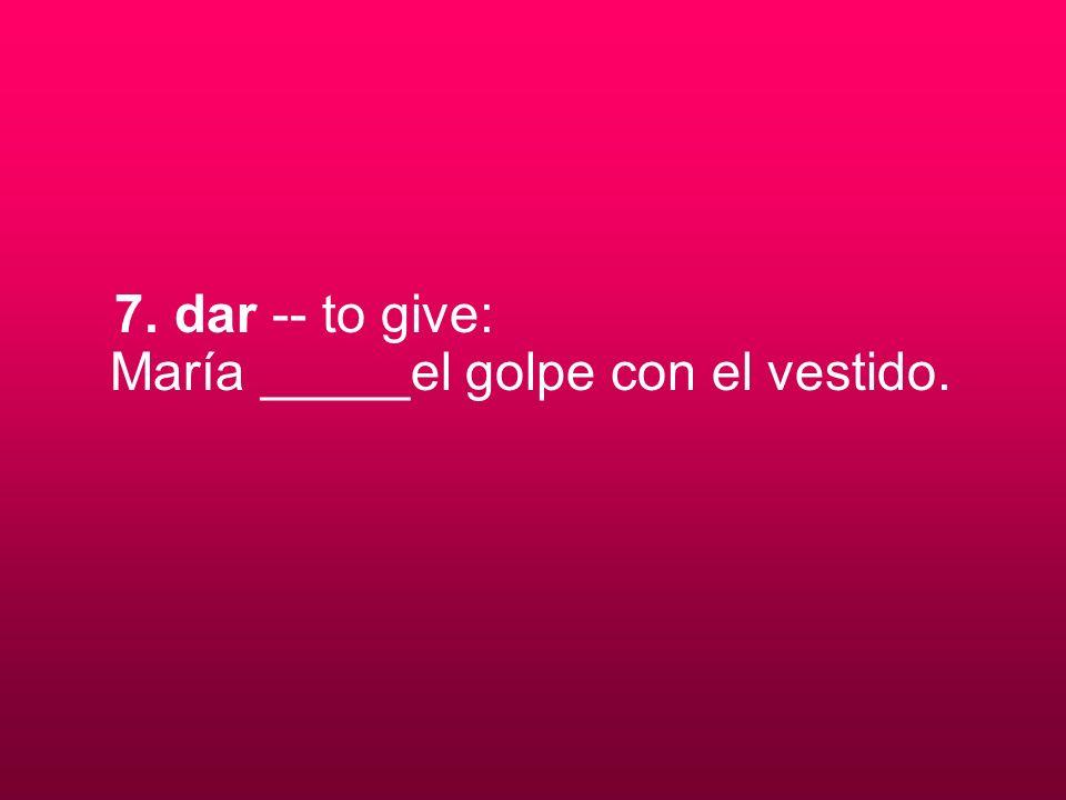 8. ir -- to go: Esta noche nosotros ___ a leer el libro.