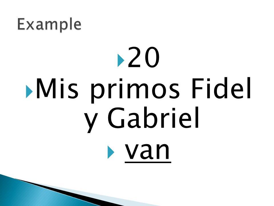 20 Mis primos Fidel y Gabriel van