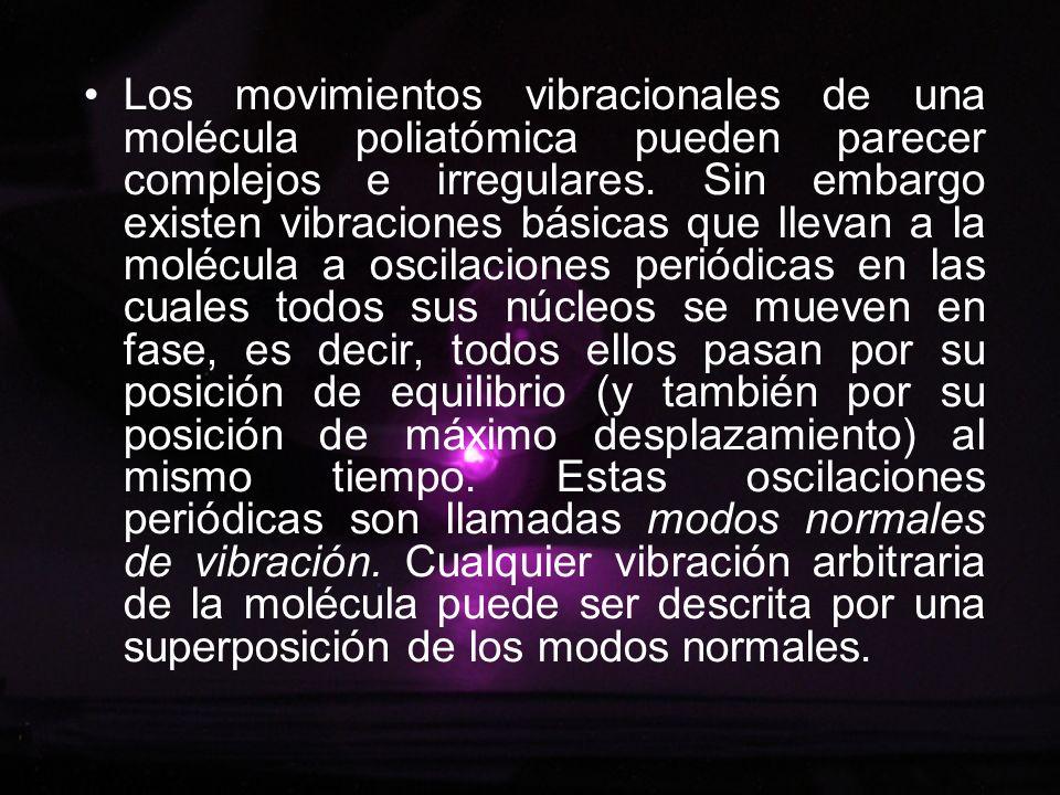 Los movimientos vibracionales de una molécula poliatómica pueden parecer complejos e irregulares. Sin embargo existen vibraciones básicas que lleva