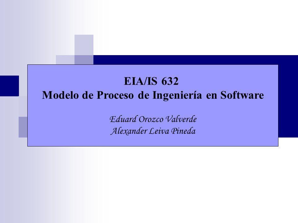 EIA/IS 632 Modelo de Proceso de Ingeniería en Software Eduard Orozco Valverde Alexander Leiva Pineda