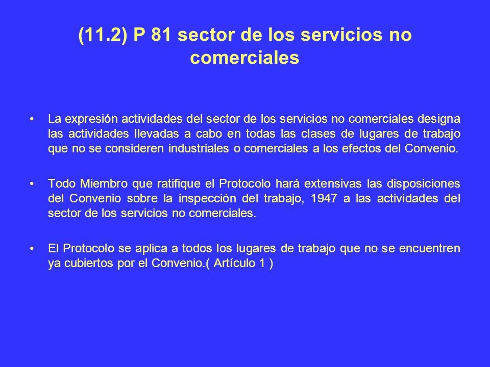 (11.2) P 81 sector de los servicios no comerciales La expresión actividades del sector de los servicios no comerciales designa las actividades llevada