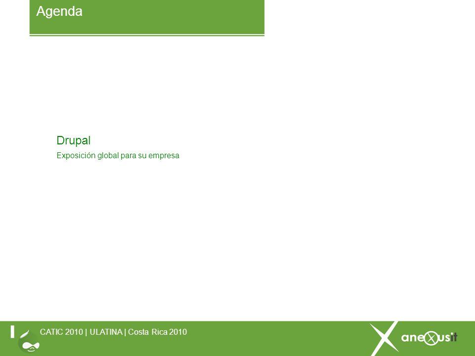 Drupal Exposición global para su empresa Agenda