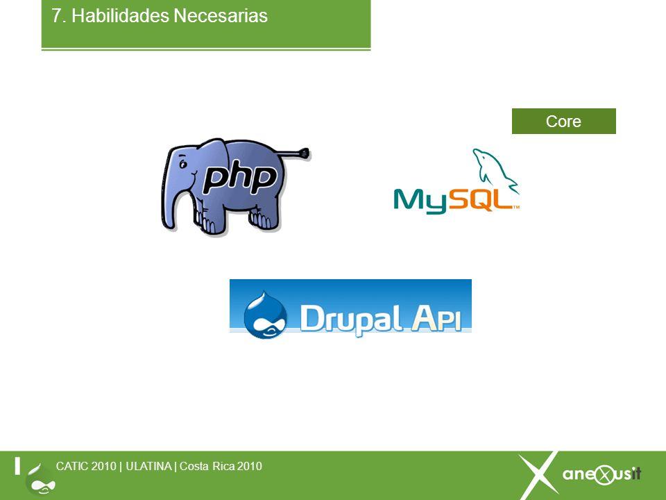 7. Habilidades Necesarias CATIC 2010 | ULATINA | Costa Rica 2010 Core