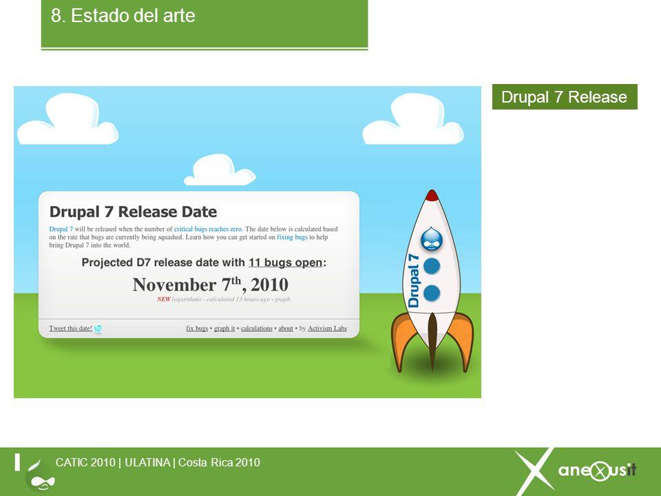 8. Estado del arte CATIC 2010 | ULATINA | Costa Rica 2010 Drupal 7 Release