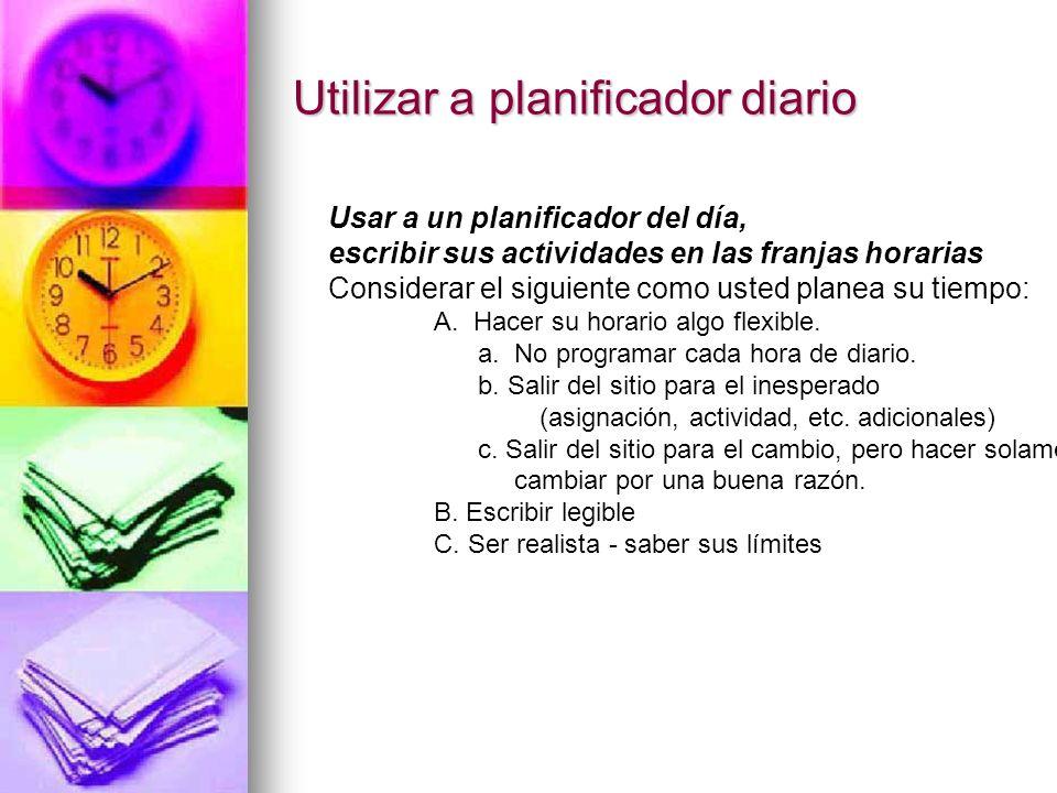 Horario del poste y Asignaciones/listas Guardar a su planificador del día Manual con usted (Usted no seguirá su horario a menos que usted lo mire!)
