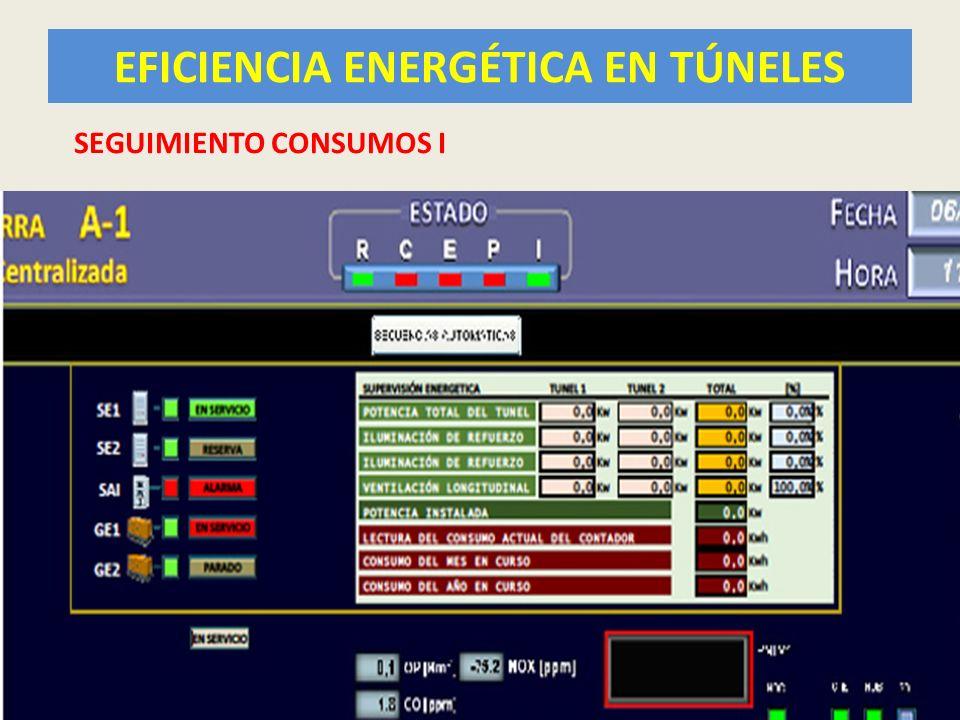 EFICIENCIA ENERGÉTICA EN TÚNELES 43 SEGUIMIENTO CONSUMOS I